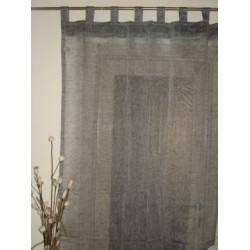 sheer natural grey linen tab top curtains