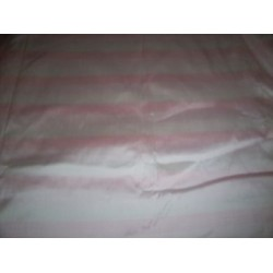 3 colour pale pink dupioni stripes