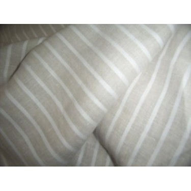 100% linen stripe fabric 58