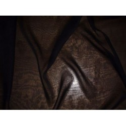 Black silk chiffon fabric 44""