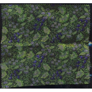 very pretty dark floral silk brocade