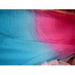 shaded Silk chiffon thin satin stripe fabric 44
