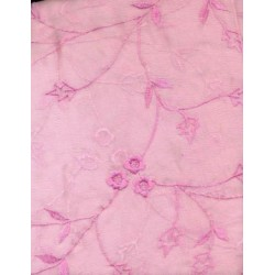 silk chiffon embroidery~pink embroidery
