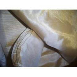 "Gorgeous Silk mettalic tissue 44"" wide-Gold dust"