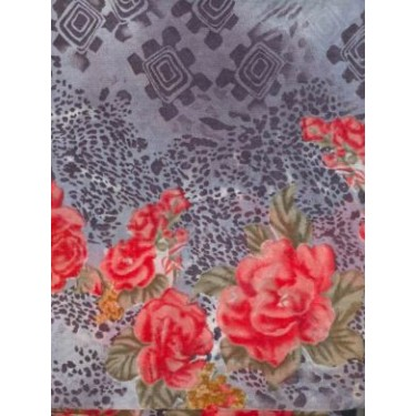 2 x 2 /100 cotton voile printed ~floral print -44
