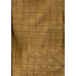 ALMOND BROWN SILK DUPIONI pintuck Fabric 51