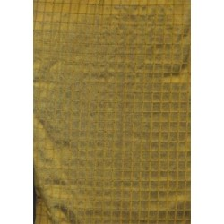 "dark gold / black ""Waffle "" Silk Dupioni fabric 44"""