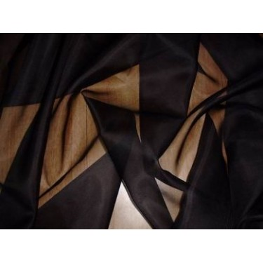108 inches wide silk organza-black colour