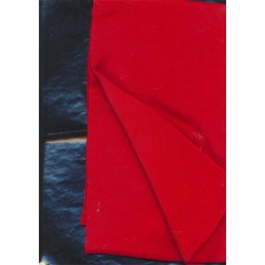 """Pure Silk crepe fabric 44""""-red"""