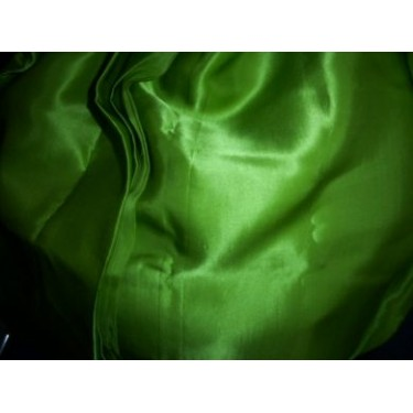 "100% Silk Satin fabric 44""-Avocado (green)."
