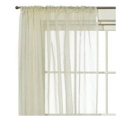 100 % Silk Organza Window Panel {52