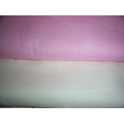 100's / 140's  cotton lawn 91 cms -ivory / light pink