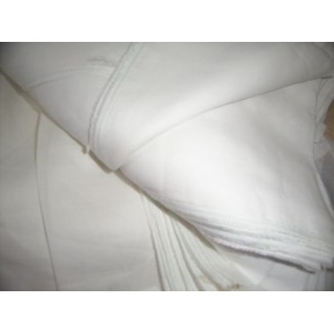 "100 % White  pure linen fabric 57"" wide"