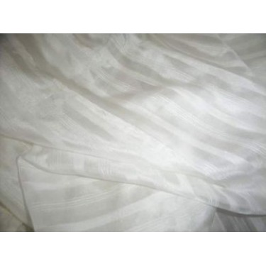 "Silk satin stipe fabric 44""~light ivory"