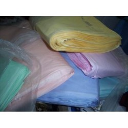 "100% cotton organdy fabric 44""pastel colours sold by the yard"
