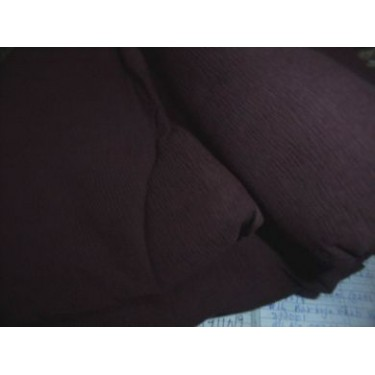 Chocolate brown silk chiffon fabric 44