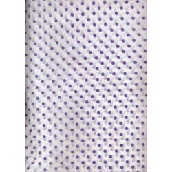 Cotton organdy printed ~dots{purple} 44 inches by the yard