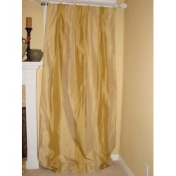 gold taffeta w/ gold stripe 8' wide