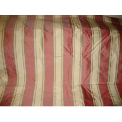 "Silk taffeta awesome red stripes 54"" wide sold by the yard"