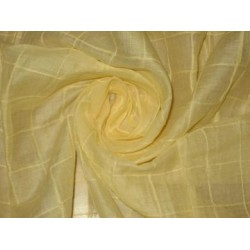 "100%cotton organdy fabric 44""-square pintuck~mango colour"