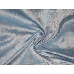 100% Pure Silk Brocade Powder blue,blue & baby pink Colour