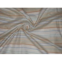 "Multi colour horizontal stripes~Chambray Linen~Width 58""ADS2"