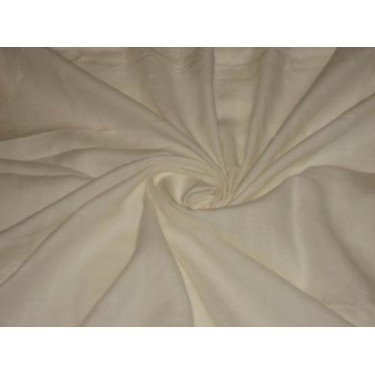 Ivory White Colour~Chambray Linen~Width 58