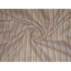 Multi colour horizontal stripes~Chambray Linen~Width 58