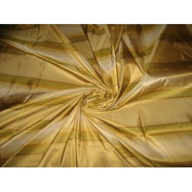 "SILK TAFFETA FABRIC 54"" w multi colour gorgeous horizontal stripes"