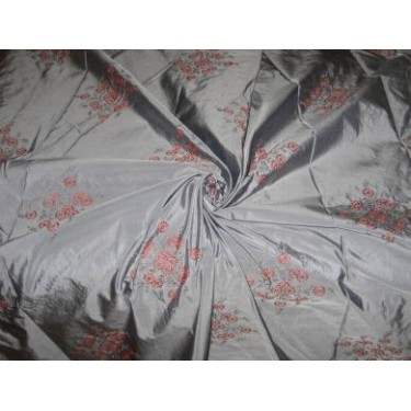 """Extremely high quality silk taffeta silk 54"""" embroidered"""