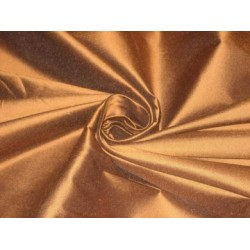 Caramel Brown colour silk dupioni silk 54
