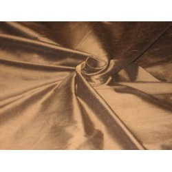 Dark Chocolate colour silk dupioni silk 54