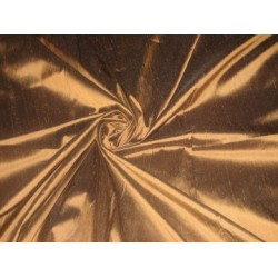 Copper x Brown colour silk dupioni silk 54""
