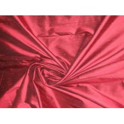 Burgundy colour silk dupioni silk 54
