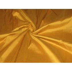 "100%silk dupioni silk 54""-Turmeric Yellow colour DUP #226"