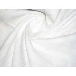 "White linen with  satin stripes / herribones & very slight lurex yarn-58"" width"