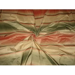 Multi colour horizontal stripes SILK TAFFETA FABRIC 54