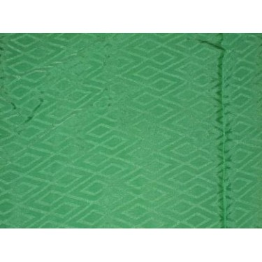 Parrot Green colour Crepe Silk~Geometrical design~Width 44