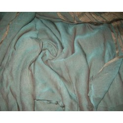 Irridescent turquoise Blue chiffon~Width 44""