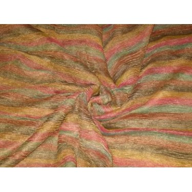 36 INCHES WIDE~ RICH Multi colour horizontal stripes