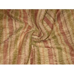 36 INCHES WIDE~ GOLD Multi colour vertical stripes