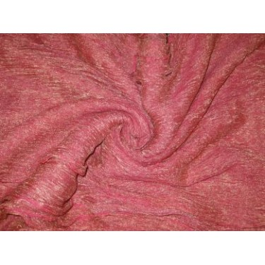 36 INCHES WIDE~ GOLD candy pink silk mettalic tissue organza fabric