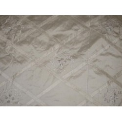 ivory diamond pintuck design ~with lace embroidered by the yard
