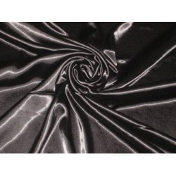 Jet Black Polyester fabric~Stretchable~Width 58