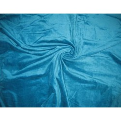 "100% cotton velvet fabric 44"" wide~Turquoise Blue colour"