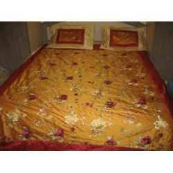 Gorgeous Silk dupioni bed cover & pillow case set