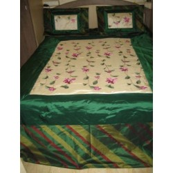 Superb Silk dupioni bed cover & pillow case set