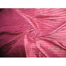 Brinjal Purple colour silk dupioni with Dobby Stripe~ 54