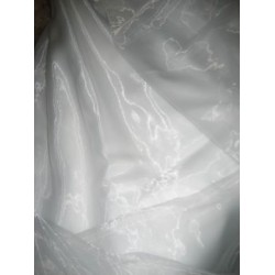 Pure White Polyester Organza Fabric~Width 110