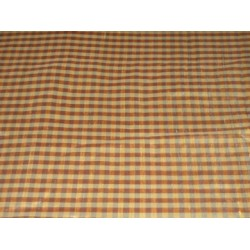 Brown,Mustard & Blue colour plaids~Silk Dupioni fabric~Width 54